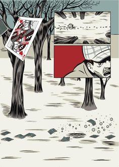 B comics ★ Fucilate a strisce. SHHH!   Francesco Panatta. Playing Cards, Playing Card Games, Game Cards, Playing Card