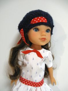 Hearts 4 Hearts Doll Clothes from 123 Mulberry Street: This nautical outfit is perfect for summer.