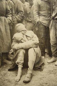 Germany, Soviet POW's in a POW camp, 1943