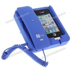 Cheap KK-02 Handset Dock Stand with Hands Free for iPhone 4,4S,3G/3GS,iPhone 5 Blue (BLUE) | Everbuying.com