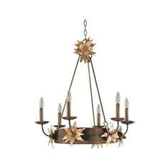 Flambeau Lighting Simone Six-Light Bronze Chandelier ($898) ❤ liked on Polyvore featuring home, lighting, ceiling lights, flambeau, flower lamp, flower stem, flower chandelier and flambeau lamps
