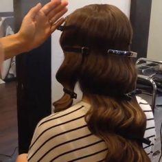 old Hollywood glamour hair tutorial