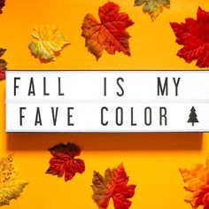Happy first official day of Fall! 🍁    #autumn #basic #fall #leaves #lightbox #homedecor #decor