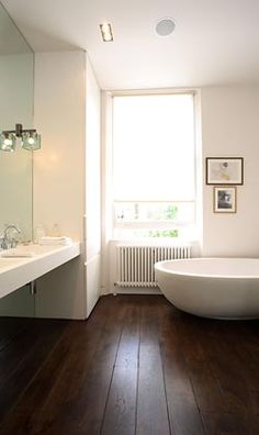 Love the floorboards in the bathroom!!