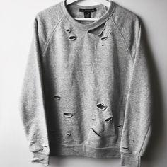 bling sweatshirt,distress sweatshirt,denim bow sweatshirt,off shoulder sweat,bleach sweatshirt,upcycle sweatshirt,refashion sweatshirt