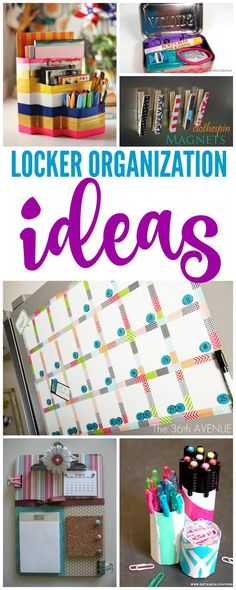 Locker Organization Ideas! Back to school planning for your kids!