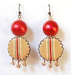 fabric earrings by madebyeleonora http://madebyeleonora.alittlemarket.it