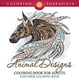Free Kindle Book -   Animal Designs Coloring Book For Adults - A De-Stress Coloring Book (Animal Designs and Art Book Series)