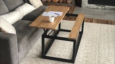 Building a Lift Top Coffee Table Lift Up Coffee Table, Coffee Table Frame, Coffee Table Plans, Old Door Projects, Diy Furniture Projects, Furniture Plans, Woodworking Projects, Wood Projects, Handmade Furniture