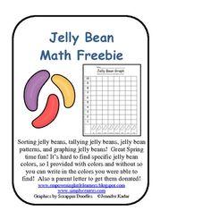 Free Jelly Bean Math for preschool