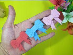 origami tie instructions gấp nơ bằng giấy - Sáng tạo xanh 3d Origami Vase, Cube Origami, Origami Xmas Tree, Origami T Rex, Lotus Origami, Bunny Origami, Design Origami, Geometric Origami, Dollar Bill Origami