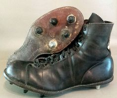Vintage Converse Youth Football Shoes 1950s Cleats Black