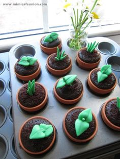 Sweet Sprout Cupcake Toppers 12 Sprouts 2 Bunny by mimicafeunion