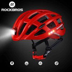 ROCKBROS Cycling Helmet Bike Ultralight Helmet With Light Intergrally-molded Mountain Road Bicycle Helmet Safe Men Women 49-59cm // FREE Worldwide Shipping! //     #hashtag4