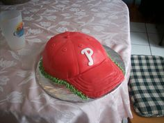 phillies hat cake... I just need to change it to blue and add a Y instead!