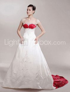 Wedding Dress With Red Accents at Exclusive Wedding Decoration and ...