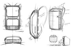 Backpack Drawing, Drawing Bag, Crystal Drawing, Technology Gifts, Bag Illustration, Industrial Design Sketch, Art Inspiration Drawing, Animal Sketches, Designer Backpacks