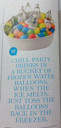 Chill party drinks with frozen water balloons - Martha Stewart Living magazine