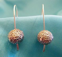 Bali Granulated Sterling Silver Beads - Pure Class Earrings. $18.00, via Etsy.