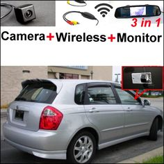 74.01$  Buy here - http://alim52.shopchina.info/go.php?t=32800988239 - 3 in1 Special Camera + Wireless Receiver + Mirror Monitor Easy DIY Parking System For KIA Sephia Sephia5 LD Hatchback 2003~2009 74.01$ #buymethat