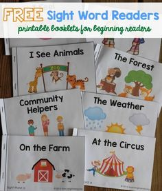 TON of sight word readers for FREE! Great for beginning readers! Free Sight Word Readers - printable booklets that focus on sight words for beginning readers!Free Sight Word Readers - printable booklets that focus on sight words for beginning readers! Preschool Sight Words, Teaching Sight Words, Sight Word Practice, Kindergarten Literacy, Preschool Learning, Literacy Activities, Pre K Sight Words, Literacy Centers, Preschool Word Walls