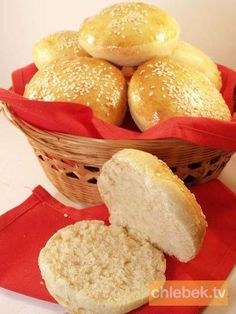 Bułeczki hamburgerowe Dairy, Bread, Cheese, Food, Breads, Hoods, Meals, Bakeries