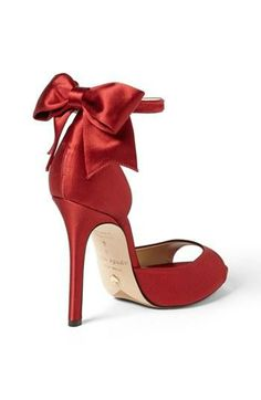 Gorgeous, red Kate Spade bow sandal.