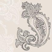 Handgezeichnete paisley ornament. — Stockvektor