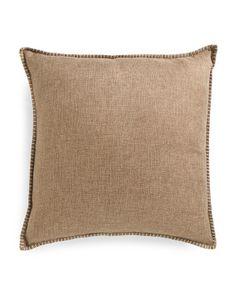 22x22 Faux Linen Front Velvet Back Pillow
