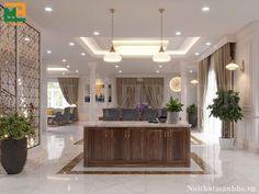 Hãy cùng tham khảo mẫu thiết kế nội thất biệt thự của nhà thiết kế Mạnh Hệ nhé.  Màu sắc chủ đạo là màu trắng và màu gỗ óc chó.