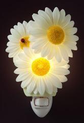 Ladybug Daisies Night Light