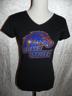 Boise State VillaStyle Bling Girly V-Neck - VillaStyle Collegiate