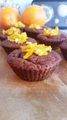 Sokerittomat bataatti-appelsiini muffinssit (vegaani) | Terveelliset herkut