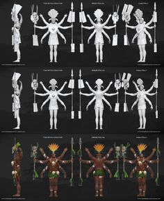 WItch Doctor break down ( low and high poly) by Pierre Benjamin. see more on http://pierrebenjamin.tumblr.com/