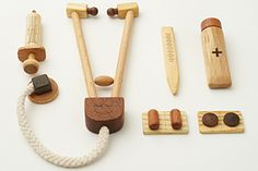 wooden dr set