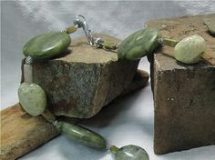 Cool Shades of Green Stone Necklace