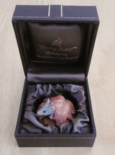 Vintage Country Artists Steve Langford Miniature Mouse Ornament (Boxed)