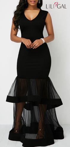 Layered Mesh Panel Cutout Back Black Mermaid Dress Source by liligalwomensfashion Elegant Dresses, Pretty Dresses, Sexy Dresses, Casual Dresses, Fashion Dresses, Fashion Clothes, Black Mermaid Dress, Club Party Dresses, Mesh Panel