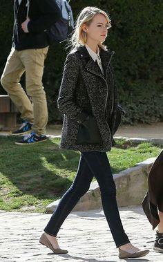Emma Stone J brand 牛仔褲