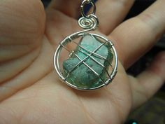 Fluorite Crystal Necklace by LaylasCrystalCave on Etsy
