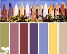 Surf color palette by design seeds