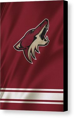 Coyotes Canvas Print featuring the photograph Phoenix Coyotes by Joe Hamilton