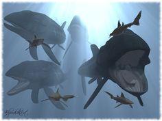 Leedsichthys by ~Elperdido1965.  Large bony fish, grew to perhaps 16 meters.