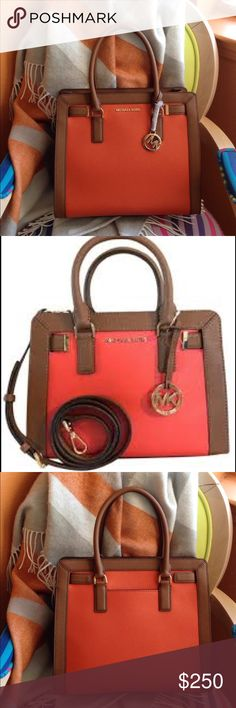6ffa5193a96 Michael Kors Dillon Saffiano leather satchel NWT This the Dillon Large  satchel in saffiano leather.