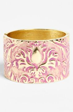 Can't wait to wear this gorgeous pink embossed cuff!