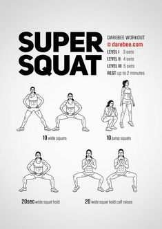 Squat workout 573575702537871136 - Super Squat Workout by DAREBEE Source by alasmichel Fitness Workouts, Darbee Workout, Circuit Fitness, At Home Workouts, Butt Workouts, Squats Fitness, Fitness Memes, Funny Fitness, Workout Humor
