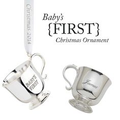 Personalize a baby's first Christmas ornament to add extra special meaning to such a special gift!
