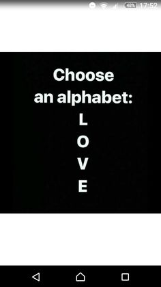 Welll choose an alphabet