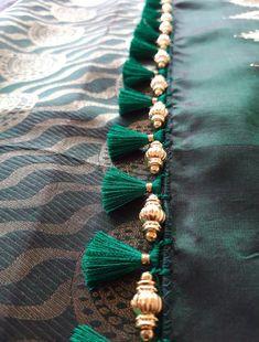Saree Kuchu New Designs, Saree Jacket Designs, Saree Tassels Designs, Kids Blouse Designs, Wedding Saree Blouse Designs, Hand Work Blouse Design, Saree Blouse Neck Designs, Simple Blouse Designs, Stylish Blouse Design