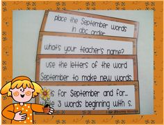Teaching Blog Addict: September free task cards as seen on First Grade Faculty    www.firstgradefaculty.com